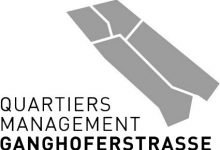 Logo Quartiersmanagment Ganghoferstraße_Schwarz Weiß
