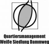 Logo Quartiersmanagment Weiße Siedlung Dammweg_Schwarz Weiß
